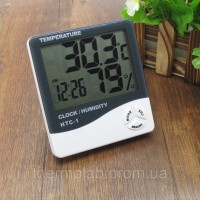 Цифровой термогигрометр AIRO HTC-1 (-10 °C..+50 °C; 10%-99%), часы, будильник