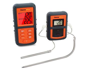 Беспроводной двухканальный термометр (до 100 м) ThermoPro TP-08S (0-300 °С) в прорезиненном корпусе