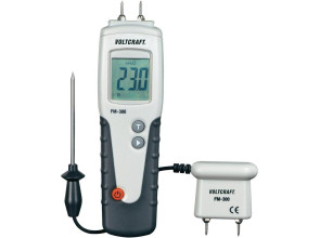 Влагомер древесины Voltcraft FM-300 (6-99%; -35...+80°C) с выносным датчиком температуры и влажности. Германия
