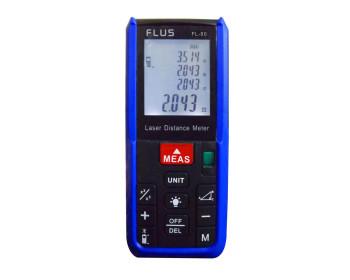 Лазерный дальномер ( лазерная рулетка ) Flus FL-80 (0,039-80 м) проводит измерения V, S, H - 800743136 - Фото - 1