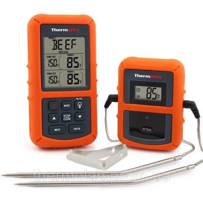 Беспроводной двухканальный термометр (до 100 м) ThermoPro TP-20 (0-300 °С) с таймером и 7 режимами для мяса