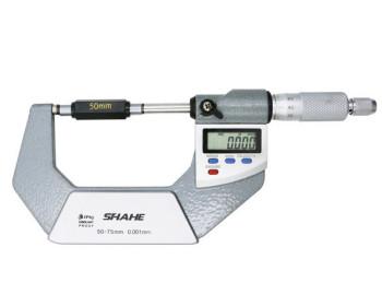 """Микрометр цифровой Shahe 50-75mm / 0-1""""0.001 (5203-75) в водозащищённом металлическом корпусе IP 65 - 800743688 - Фото - 1"""