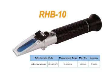 Портативный рефрактометр RHB-10ATC(REF 101/111,HT111ATC) Brix (Сахароза от 0 до 10 %), АТС
