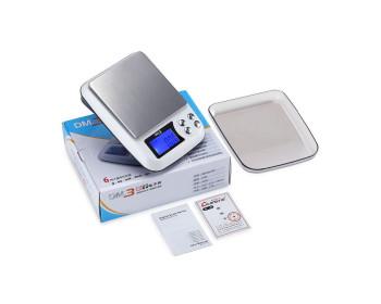 Весы цифровые DM.3 (±0,1-3000 г) с функцией счета, съемной крышкой и возможностью работать от сети 220V