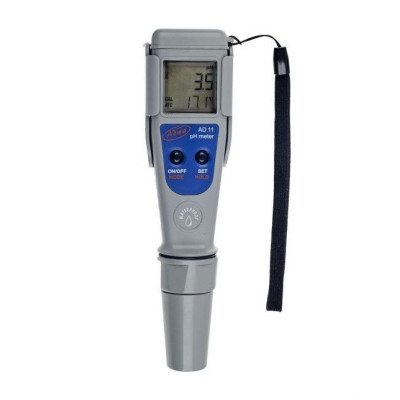 Влагозащищённый pH-метр ADWA AD11 (РН от -2,0 до 16,0; РН ± 0.1 pH), АТС, автоматическая калибровка. Венгрия