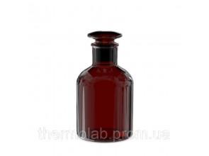 Склянка для реактивов с узким горлом, притёртой пробкой из янтарного стекла V-250 мл ГОСТ 21400-75