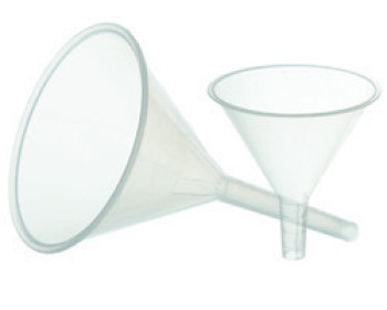 Воронка лабораторная пластиковая (диаметр - 100мм) полипропилен