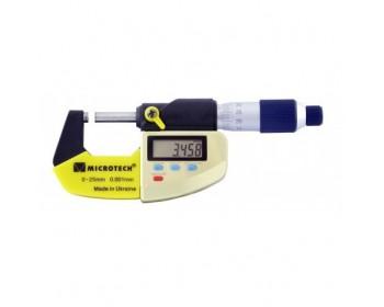 Микрометр цифровой МИКРОТЕХ МКЦ-25 IP65 (0-25 мм/0.001 мм; ±0,002; RS-232)