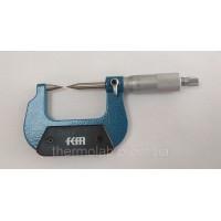 Микрометр c заостренными малыми губками аналоговый KM-2241-25 (0-25 мм;±0,01 мм)
