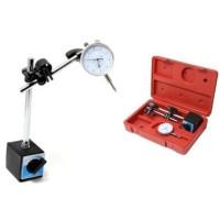 Набор. Стойка индикаторная с магнитным основанием GROZ  и индикатор часового типа ИЧ-10 0.01 мм с ушком