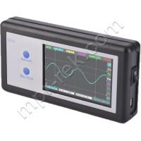 Портативный осциллограф с сенсорным TFT экраном 3.2″ ( 2-канальный, 200KHz, 12bit АЦП) D602 + комплект щупов