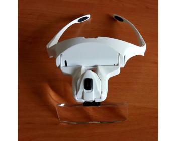 Лупа-очки бинокулярные N1199 (1x/1.5x/2x/2.5x/3.5x) c LED подсветкой