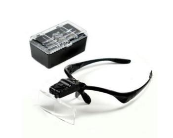 Лупа-очки бинокулярные 9892B (1x/1.5x/2x/2.5x/3.5x) c LED подсветкой