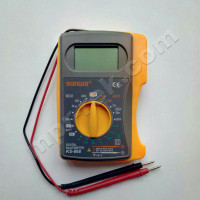 Мультиметр цифровой SUNWA KS-868 (600В, 200мA, 2МОм, тест батарей, тест диодов, звуковая прозвонка)