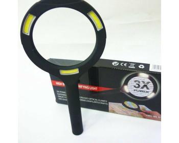 Лупа ручная круглая HG-BL010 (90мм-3Х) со светодиодной подсветкой