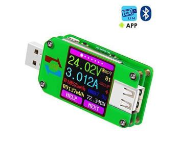 Многофункциональный USB-тестер RuiDeng UM24C (с возможностью подключения к Android и Windows)