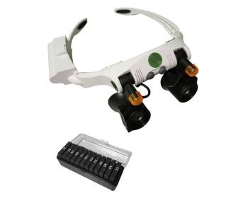 Бинокулярные лупа-очки NO.32225-21SX с LED подсветкой