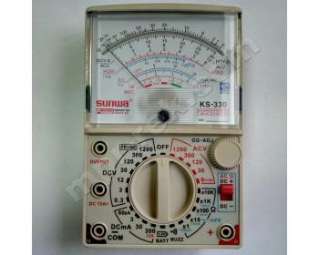Мультиметр аналоговый SUNWA KS-330 (1200В, 12A, 20МОм, тест батарей, звуковая прозвонка)