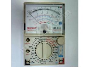 Мультиметр аналоговый SUNWA KS-350 (1000В, DC10A, 20МОм, hFE, тест батарей, Logic test, звуковая прозвонка)