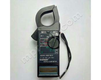 Клещи токоизмерительные цифровые SUNWA KSR 3012 (AC600A, 750В, 40МОм, Ø25мм, звуковая прозвонка)