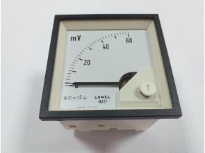 Аналоговый вольтметр LUMEL MA17N A505 60 mV Польша