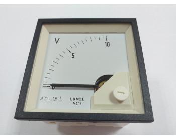 Аналоговый вольтметр LUMEL MA17N A606 10V Польша