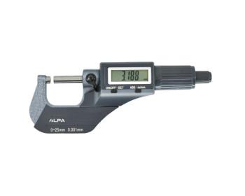 """Микрометр цифровой ALPA Exacto 0-25mm / 0-1""""0.001. Италия"""