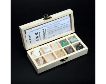 Набор минералов по шкале твердости Мооса