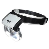 Лупа-очки бинокулярные MG81001-B (1.7X, 2X, 2.5X, 3.5X) со светодиодной подсветкой