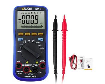 Мультиметр OWON B33+ (напряжение, ток, сопротивление, ёмкость, частота, температура) +Bluetooth,+Offline