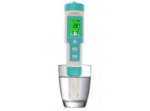 Комбинированный pH/TDS/EC/ORP/SALINITY/S.G./Temp - метр EZ COM-600 с термометром, сменным электродом, АТС