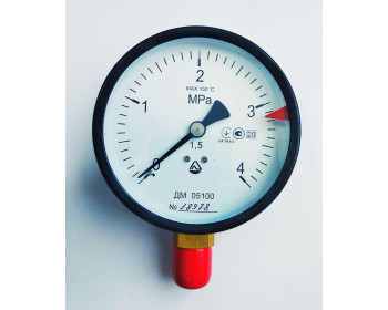 Манометр ДМ 05100 (до 4,0 мПа; кл. точности 1,5; М20x1,5) Украина.