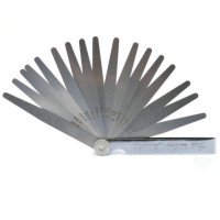 Набор щупов для измерения зазоров JC W2868B 17 (0,02-1.00) 17 щупов 100 мм