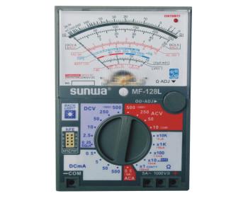 Мультиметр аналоговый SUNWA MF-128L (1000В, 5A, 20МОм, hFE, прозвонка, подсветка шкалы)