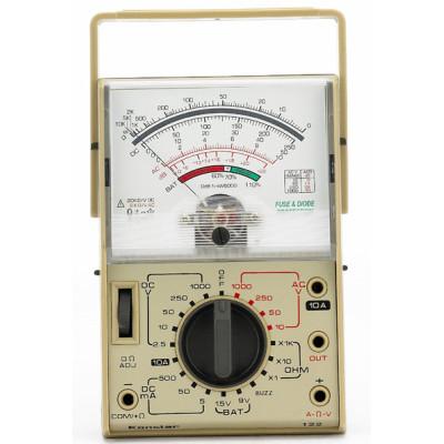 Мультиметр аналоговый SUNWA HC-122 (1000В, 10A, 2МОм, hFE, тест батарей, подсветка)