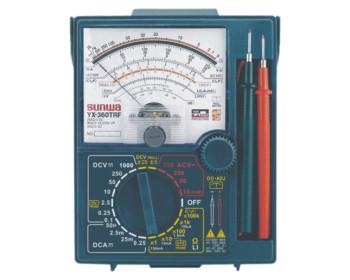 Мультиметр аналоговый SUNWA YX-360TRF (1000В, DC250мA, 200МОм, hFE) со встроеными щупами
