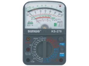 Мультиметр аналоговый SUNWA KS-278 (1200В, 12A, 20МОм, звуковая прозвонка, тест батарей)