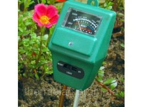 Измеритель кислотности pH влажности освещенности почвы ЕТП-301 3 в 1