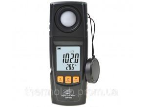 Люксметр Benetech GM1020 0-200 000 Lx c USB-интерфейсом и поворачивающимся фотодатчиком В Кейсе