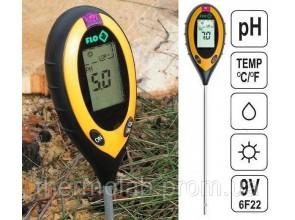 Профессиональный анализатор почвы 4 в 1 FLO 89000 РН влажность освещённость температура Польша