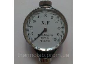 Дюрометр твердомер Шора D с одной стрелкой ASTM 2240-D шкала 0-100 НD