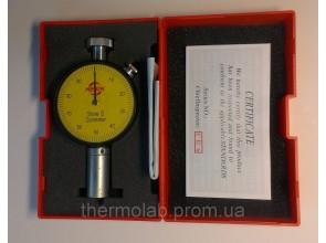 Дюрометр твердомер Шора модель SHORE D с одной стрелкой шкала HD 0-100