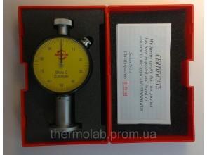 Дюрометр твердомер Шора модель SHORE С с одной стрелкой шкала HС 0-100